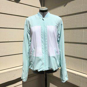 Lululemon Off-The-Court Jacket Aquamarine White